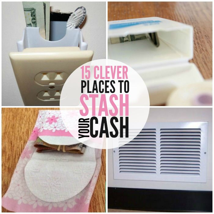 15 Clever Ways to Stash Your Cash at Home and On The Go!