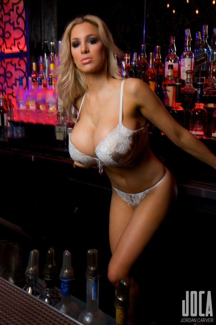 Big tit bartender