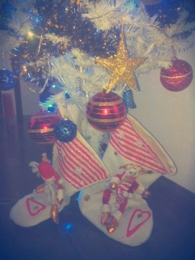 E no final, as meias para encher de presentes :)