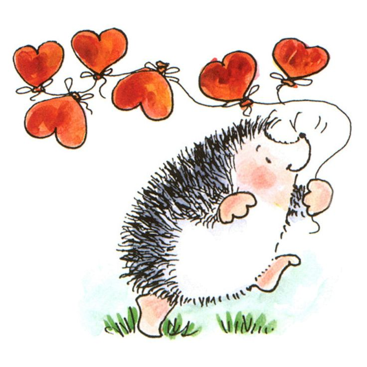 hedgehog rubber stamps | Penny Black Rubber Stamp, Hearts Away Code: RWL-3456