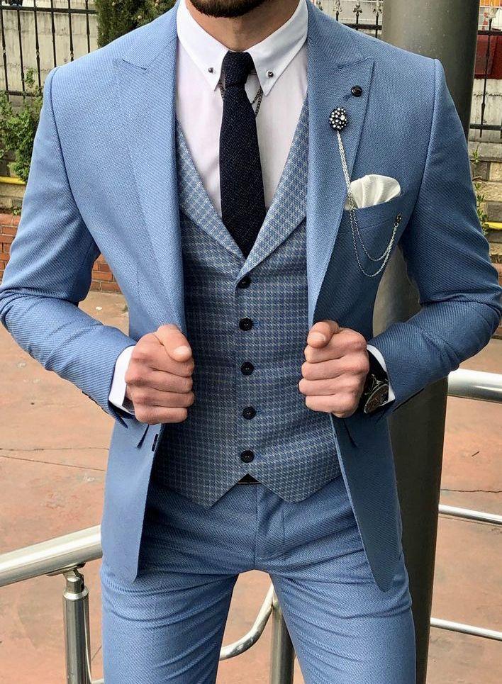 Three Piece Suit Modern Wedding Suits New Coat Pant Design 2020