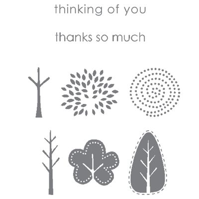 Trendy Trees Stamp Set - by Stampin Up!