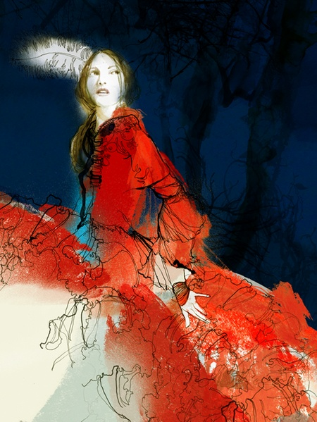 'Little Red Riding Hood I'. Giclée Art Print by Daniel Egnéus