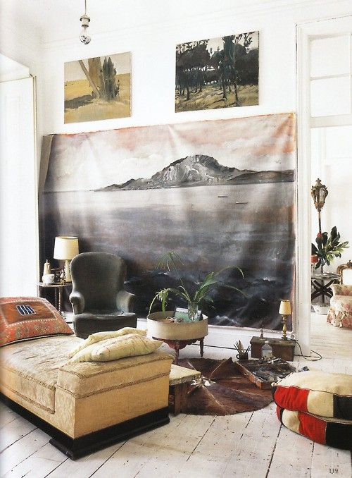apartment in Lisbon, from The World of Interiors