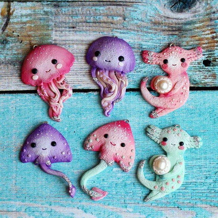 #kawaii #jellyfish #axolotl