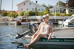 Rent a boat at Grimstad tourist office  Photo: Hanne Feyling, Visit Sørlandet