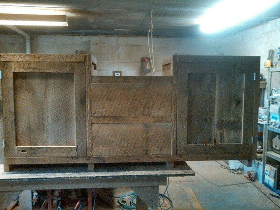 YOUR Custom Made Rustic Barn Wood Double Vanity by timelessjourney, $950.00