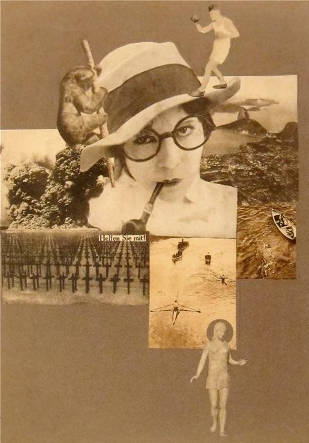 """#Marianne #Brandt """"Help! Liberated Woman!"""" Photo-montage #1926"""