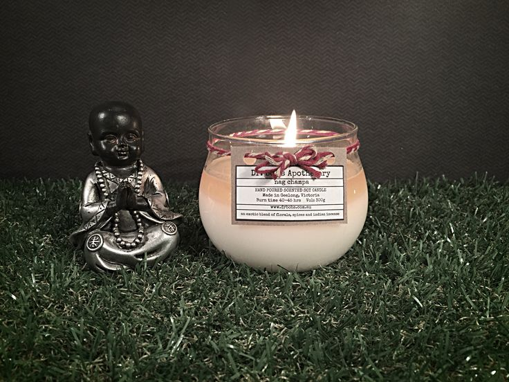 Dr Bob's Apothecary 45hr Burntime Candle  - Nag Champa  Premium Handpoured Scented Soy Candles  www.drbobs.com.au