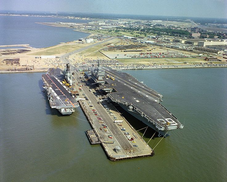 HMS Ark Royal & USS Nimitz @ Norfolk 1978.