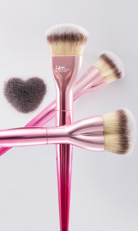 Spread the love! The newest addition to our IT Brushes for ULTA Love Beauty Fully collection is this limited-edition Love is the Foundation brush. As functional as it is beautiful, this brush has a beautiful ombre pink handle and a specially designed heart-shaped head that's perfect for applying powder and liquid foundation. Available now at @ultabeauty stores - get IT before it sells out! And remember, for every Love Beauty Fully brush sold, we donate one to Look Good Feel Better!