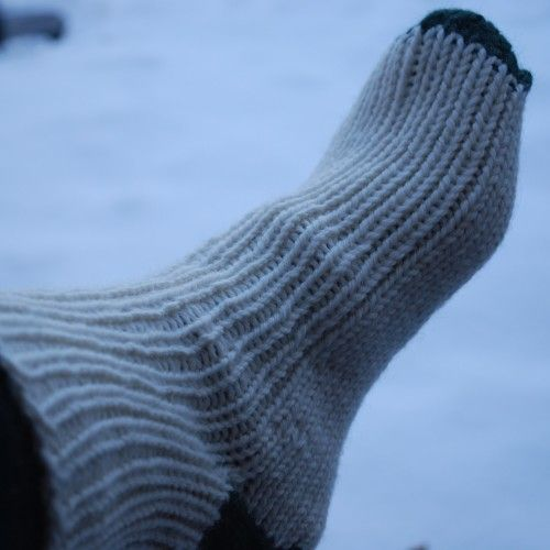 Pattern number 51. Knitted socks or slippers