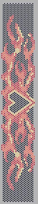 Flame Bracelet Bead Pattern by Cecilia Prado AKA InkChick