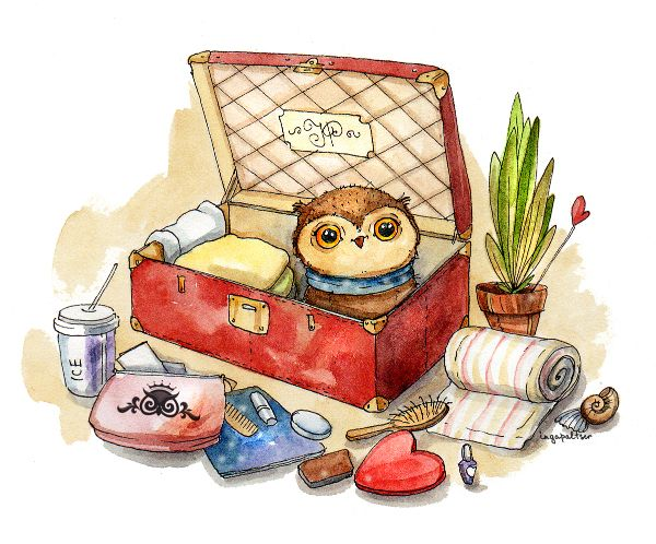 Inga Paltser - Owl - This is me today, trying to get ready for our trip!