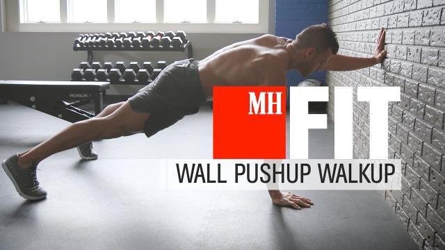 Wall Pushup Walkup