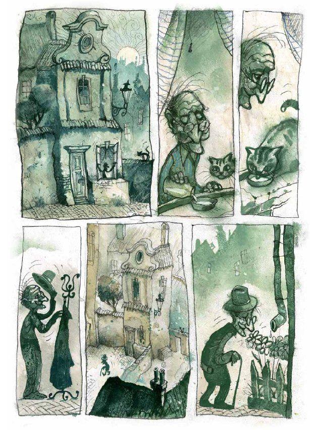 Pavel Čech, Dědečkové. Barevné album o rozsahu 68 stran obsahuje 8 příběhů beze slov, jejichž jednotící téma je zřejmé už z názvu.