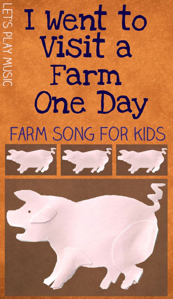 I Went To Visit A Farm One Day - Farm Song -- another really cute riff on an animals sound song!