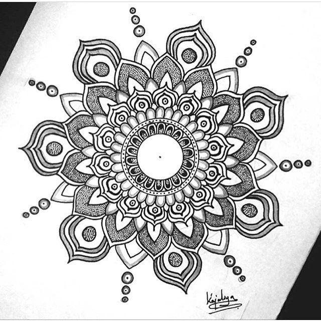 BEAUTIFUL by @artisanshipp #mandala #zentangle #zendala #zentanglemandalalove…