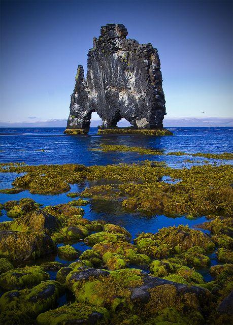 Hvítserkur at Vatnsnes Iceland
