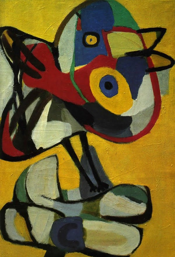 Karel Appel. #art #artist #painter #painting #yellow #red #blue #green #abstraction