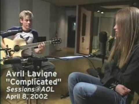 'Avril Lavigne 'Complicated' from Sessions@AOL' Video Avril Lavigne AOL Music2 - YouTube
