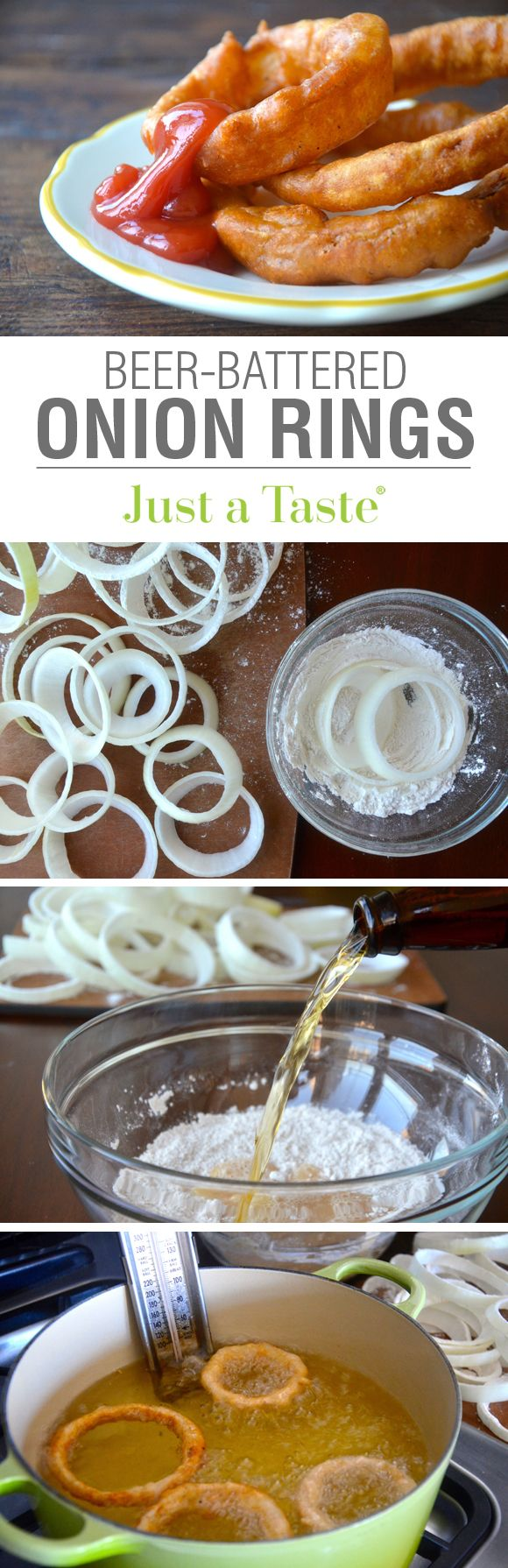 Beer-Battered Onion Rings #recipe on justataste.com