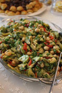 Nohutlu kabak salatası