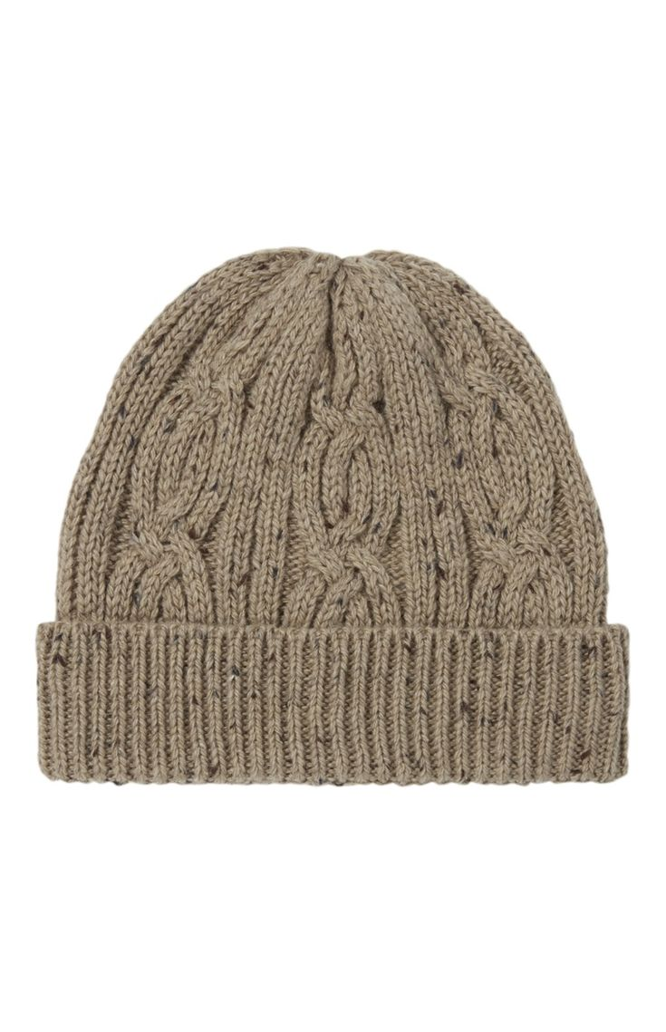 An Attractive Oatmeal Cable Knit Beanie For Primark Men - Primark Online Shop