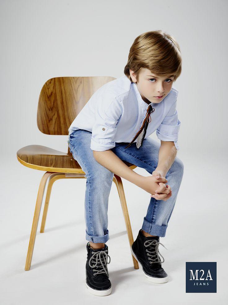 M2A Jeans | Fall Winter 2015 | Kids Collection | Outono Inverno 2015 | Coleção Infantil | calça jeans infantil masculina; camisa jeans; look infantil; denim kids.