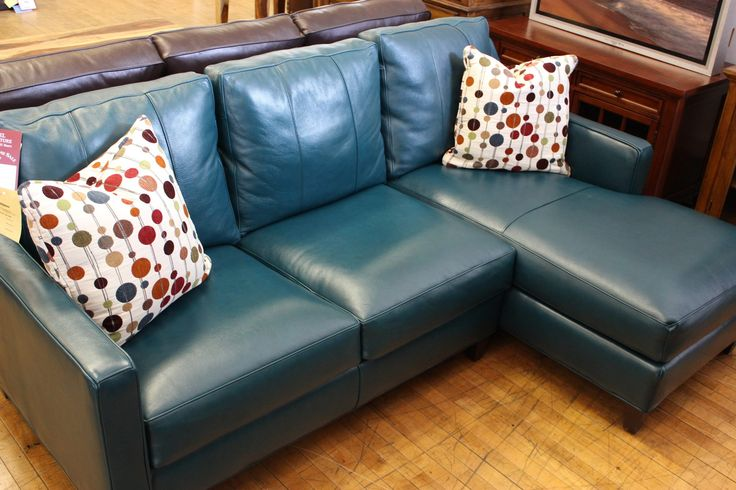 138 best gabriel furniture images on pinterest for Teal leather couch