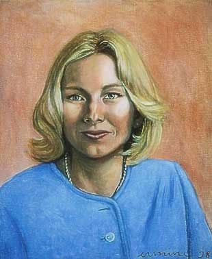 Classical portrait, female, 50x 60cm, oil on canvas ©ermine