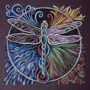Dragonfly Mandala by CJ Shelton