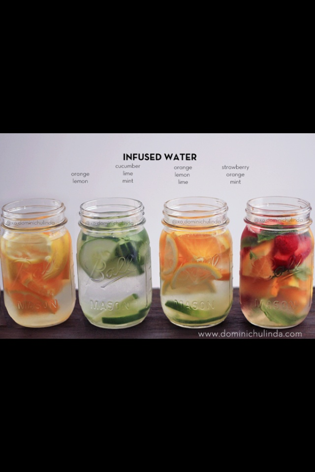 Flavor infused water. Great to detox
