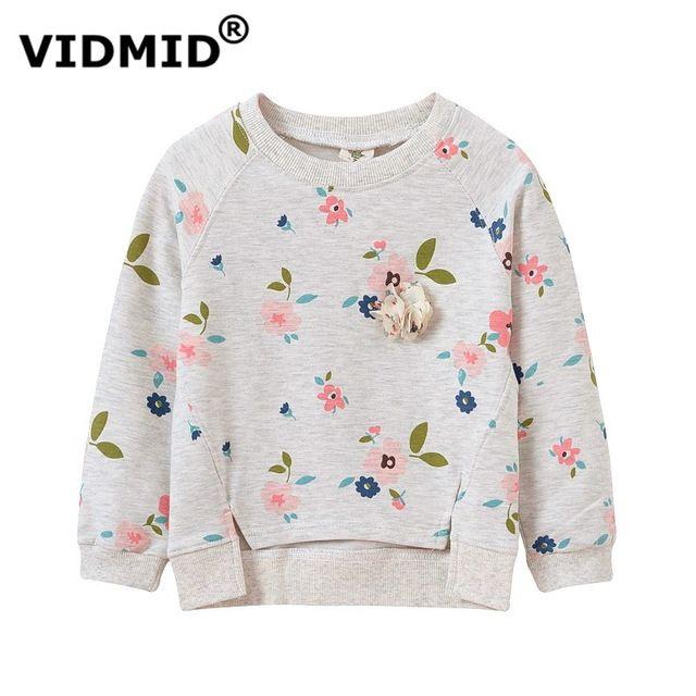 Vidmid niña suéter de los niños de la chaqueta blusa para las niñas sweatershirt otoño primavera flor chaqueta de los niños 1045 60