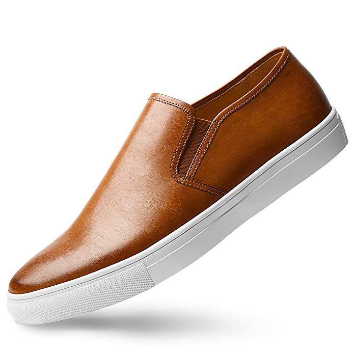 GM GOLAIMAN Men's Sneaker Slip On Loafer Fashion Leather