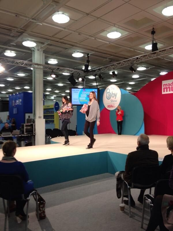 Pregnancy wrap and breastfeeding #Inspire #wrap rocking the Cat Walk The Baby Show #London Kensington ..