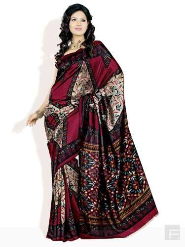 FLORENCE // Multi Floral Motif Art Silk Saree