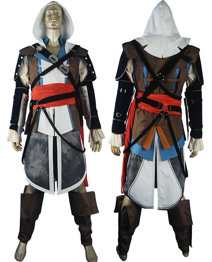 Assassins Creed black flag pirate Edward Kenway cosplay costume comic-con anime costumes halloween costume game toys for kids children adult