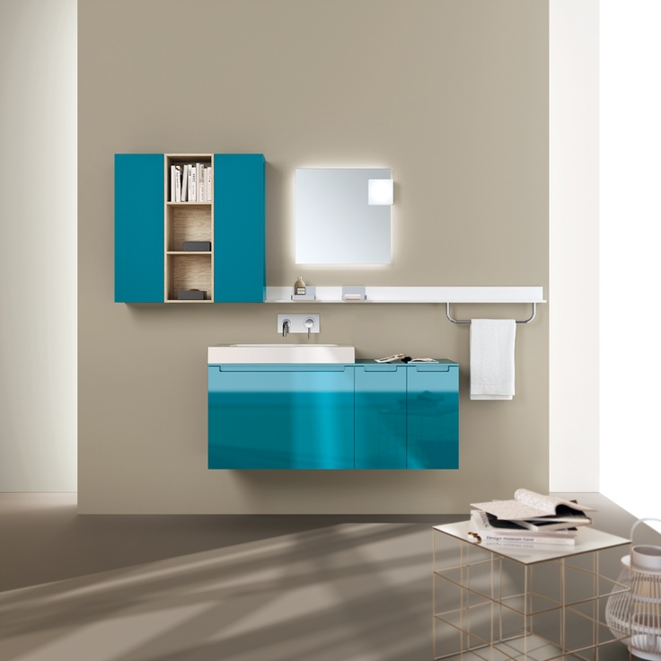 Idro Collection by #Scavolini #Bathrooms | Turquoise