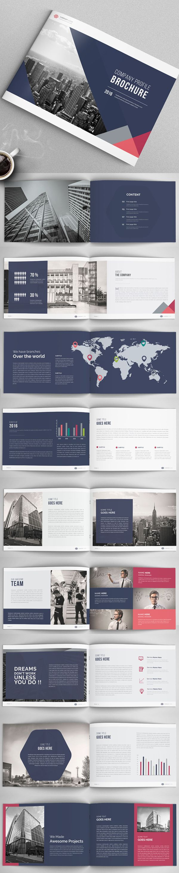 Corporate Annual Report Brochure / Catalog Template