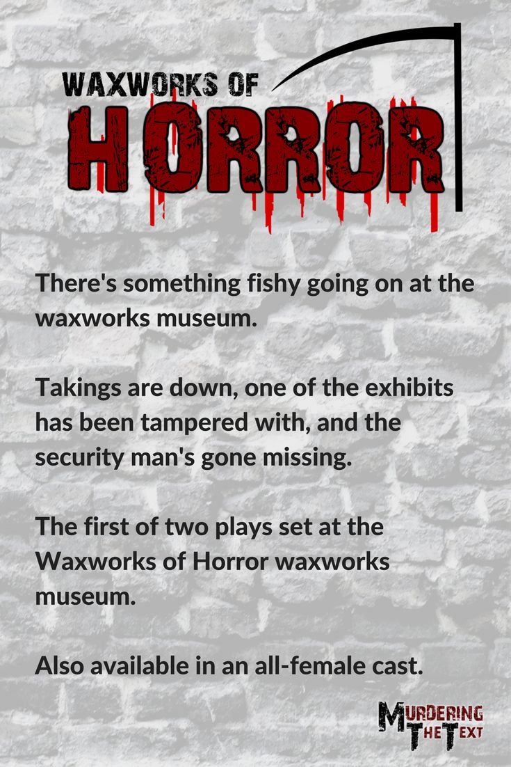 A spooky murder mystery, complete with in-house vampire and zombie.