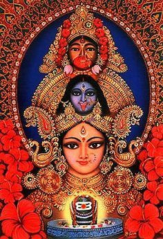 The many aspects of Shakti, including Durga and Kali.