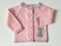 rosa Babyjacke Mäuse Jacke