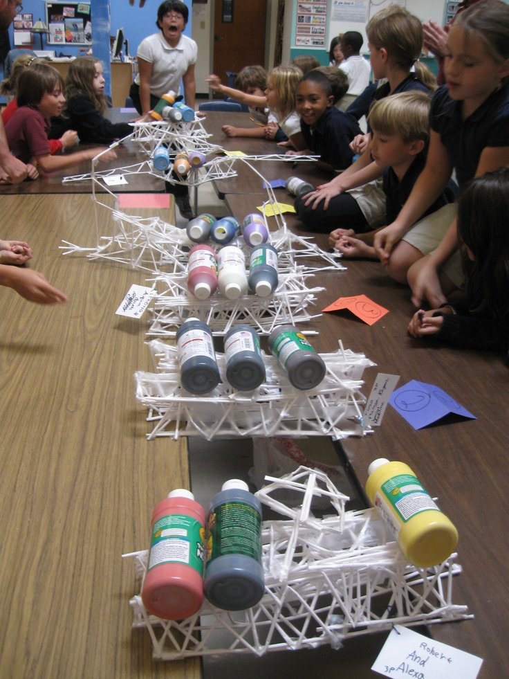 truss beam bridges using paper straws and tape ~ CC cycle 2 week 20-21