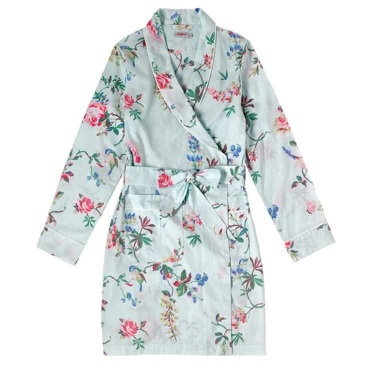 Birds & Roses Short Dressing Gown   Cath Kidston