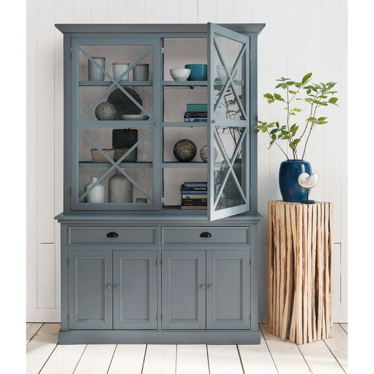 colonne d co en branche de peuplier h 95 cm bois gris gris et buffet de f te. Black Bedroom Furniture Sets. Home Design Ideas