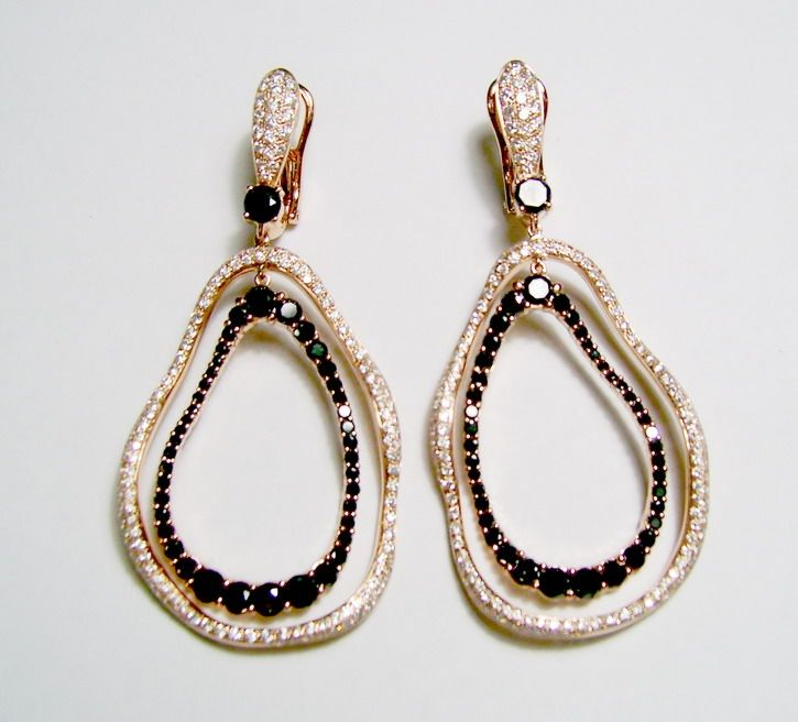 Etho Maria Earrings | Diamonds | Black Diamonds | Rose Gold | Earrings | Gift | Mother's Day | Fashion | Jewelry | Luxe | Style | Eiseman Jewels | Eiseman Bridal