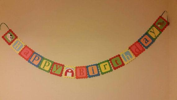 Farm animal birthday banner! https://www.etsy.com/listing/206468108/farm-animal-themed-birthday-banner-party