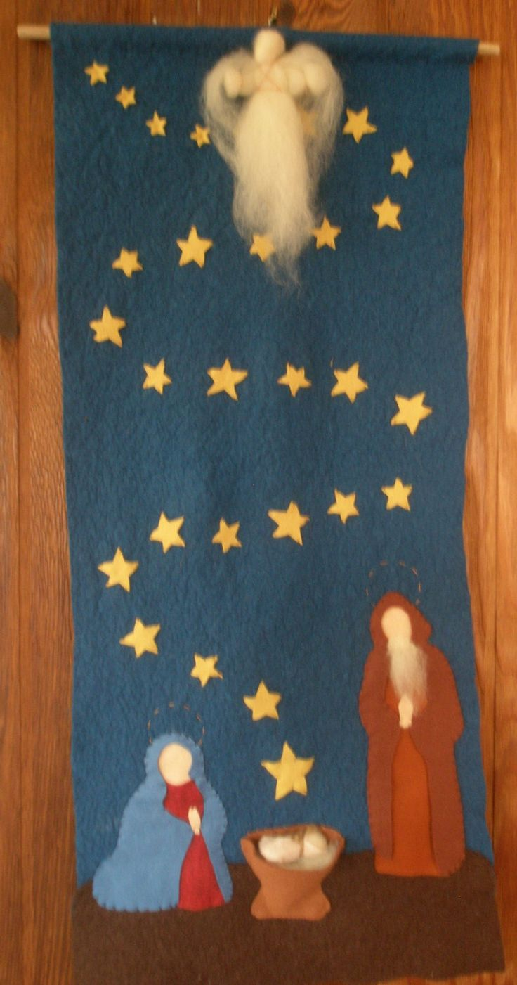 Nativity Advent Calendar Hanging.