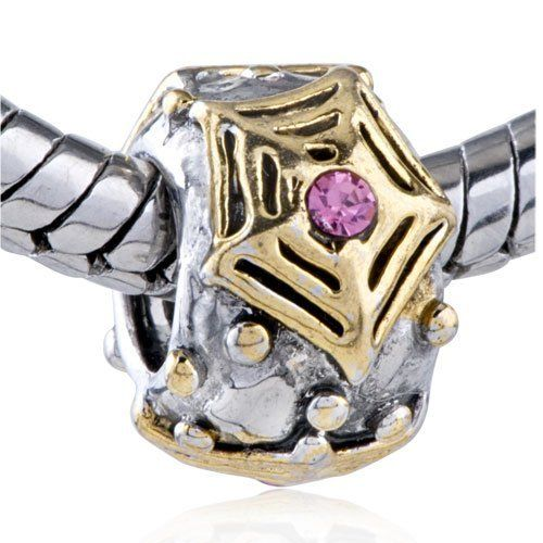Pugster Pink Crystal Golden Spider Web Bead Charm Fit Pandora Chamilia Biagi Charm Bracelet Pugster. $14.29. Pugster are adding new designs all the time. Unthreaded European story bracelet design. Free Jewerly Box. Money-back Satisfaction Guarantee. Fit Pandora, Biagi, and Chamilia Charm Bead Bracelets